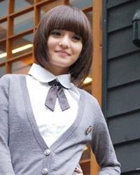 韩版女学生短发发型图片 活力无限青春接力赛