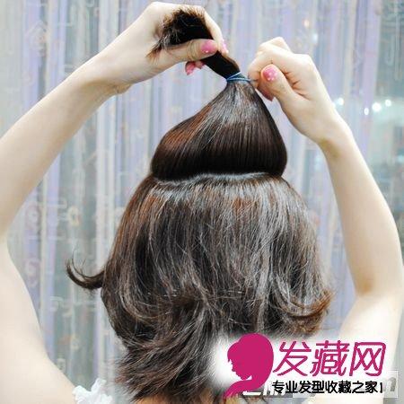 超强短发变长发图解 最新diy编发教程 第一步 先在头发中间适量挑出