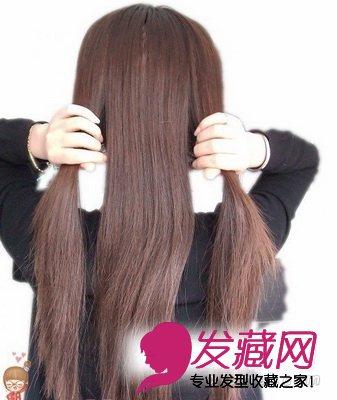 【图】长发巧变短发波波头头; 编辫子; 然后分成三等分,用来编辫子