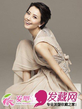 原来都是wob头 →刘亦菲刘诗诗示范 清甜系发型你也能做校花 短发发型图片