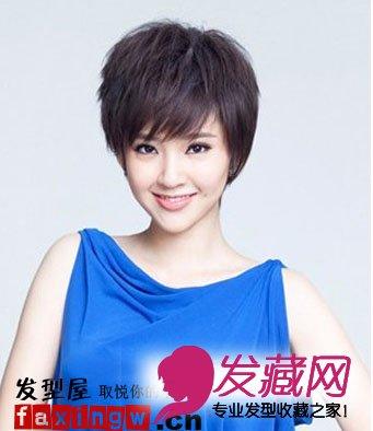 图 适合大脸的短发什么短发适合大脸 4 短发发型 发藏网图片