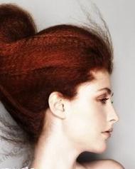 欧美性感女生盘发发型图片秀