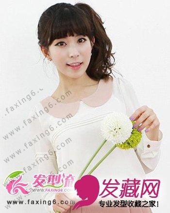 优雅可爱韩式发型 彰显时尚气质(6)