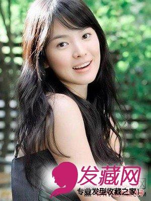 女星发型长脸适合什么发型,圆脸适合什么发型(5)图片