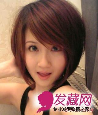 这款圆脸适合的短发空气感十足,展现了小女生的时髦气质,稀薄的 刘海图片