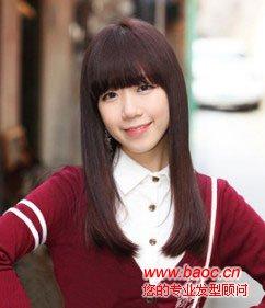 秋季女生圆脸适合的发型(6)