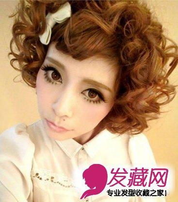 年 →2015中长发烫发发型分享 时尚的中分造型设 →波波头短发卷发