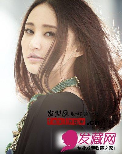 张歆艺最新淡雅气质齐肩直发(3)图片