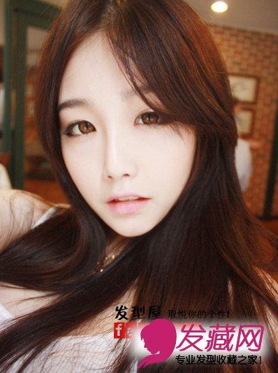 韩国女生发型(6)  导读:中分今年很流行,露出额头无论搭配长发还是 中图片