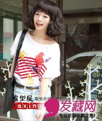春夏季节韩国小女生发型图片
