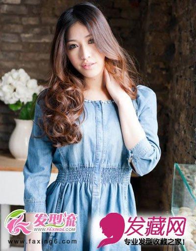 飘逸的长发为女人增添了不少光彩, 长卷发在 直发的基础上加入了图片