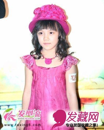 【图】小童星刘宸希尽显可爱女生发型