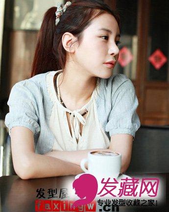 【图】马诺小清新马尾辫发型化身学生妹(5)图片