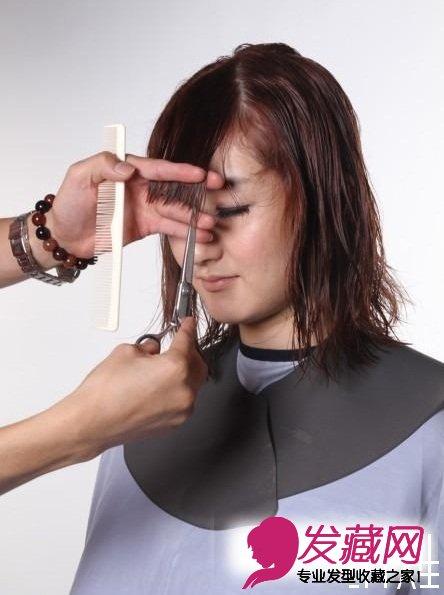 型的剪发步骤图(7)