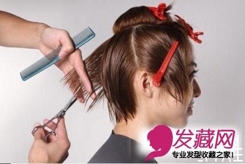 【图】日系短发剪发视频步骤图解(3)