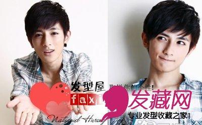 大男孩版男生纹理烫,干净清爽,轻薄的刘海阳光可爱,清晰的纹理