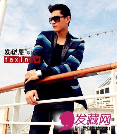 张峻宁/张峻宁朋克发型图片,展现出王子般的气质、阳光优雅。