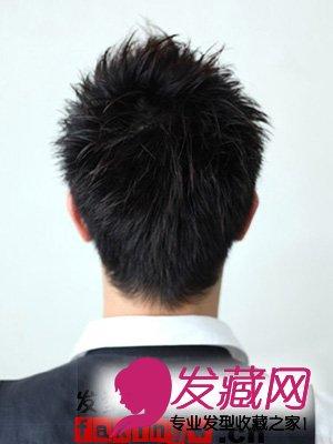 蓬松短发的侧面和背面效果图片图片