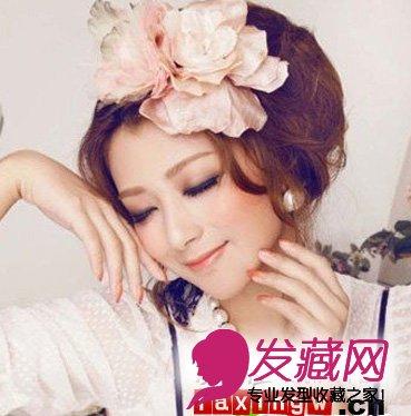 wbr>2012唯美新娘发型设计,新娘发型图片; 新娘短发晚礼造型; 蓬松