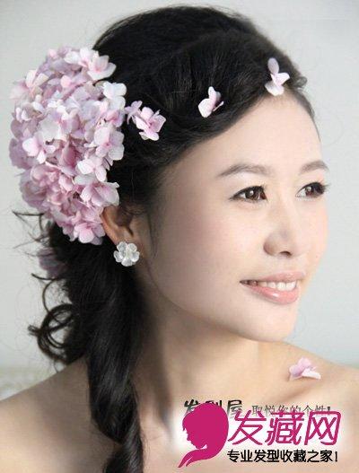 2015年鲜花配韩式新娘发型最显浪漫(3)图片