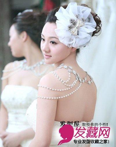 5款甜美可爱新娘盘发 适合90后准新娘 2图片