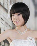 韩国短发新娘发型图片
