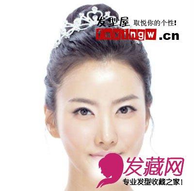 韩式气质花苞头 简约时尚新娘盘发(3)