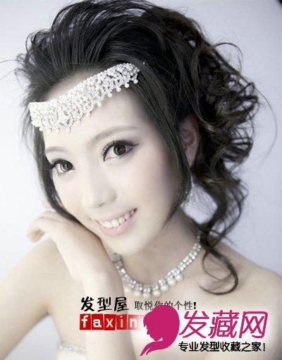韩式中长发新娘发型 高贵优雅(4);