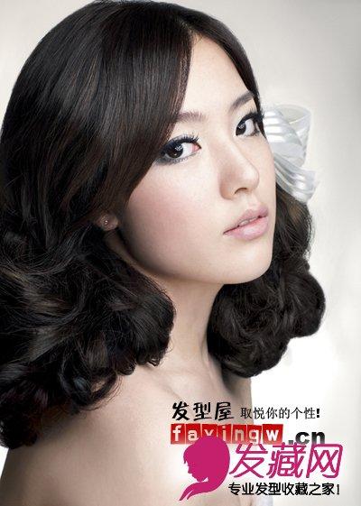 【图】7款韩式中长发新娘发型