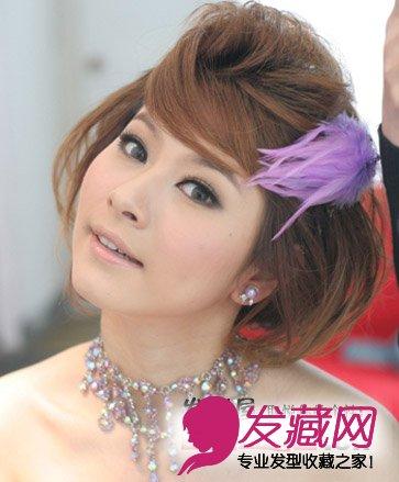 新娘短发盘发 魅力势不可挡(2)