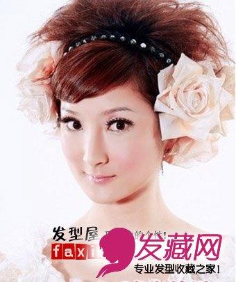 新娘短发盘发 魅力势不可挡(4)图片