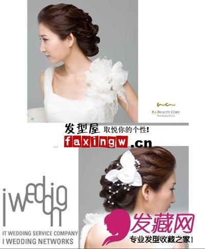 戴皇冠适合的新 →十月婚礼发型设计 蓬松感盘发让新娘甜美可