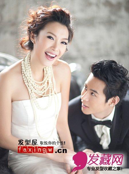 绝美婚纱照发型欣赏(5)图片