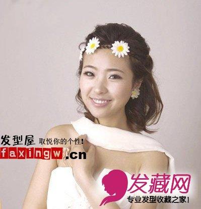 2015最新韩式婚纱发型 简洁优雅图片
