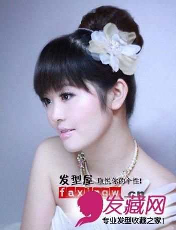 2015最新韩式婚纱发型 简洁优雅(3)