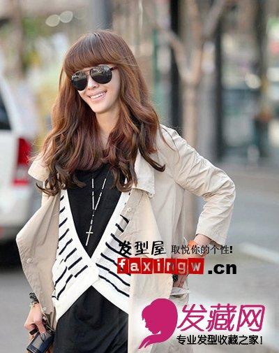 【图】最新女生齐刘海发型图片