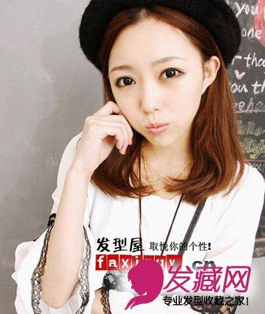 2015最新中分刘海百搭春季发型(2)图片