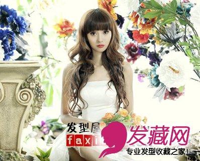 姐妹淘冯琪儿首发写真 齐刘海长卷发时尚可爱
