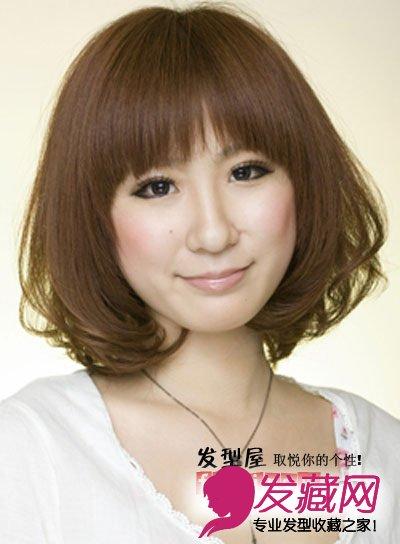 齐刘海烫发发型图片 哈齐一族必备