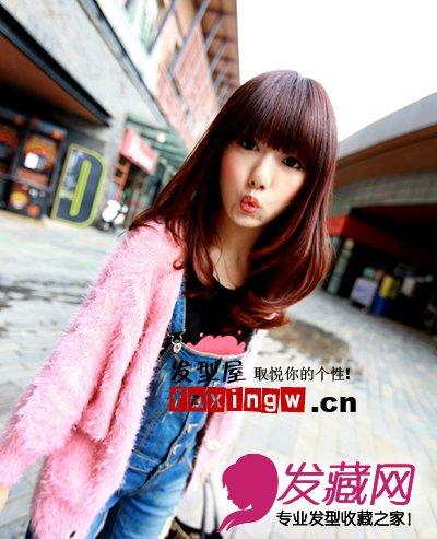 甜美可爱梨花头发型-潮人发型 平刘海梨花头发型