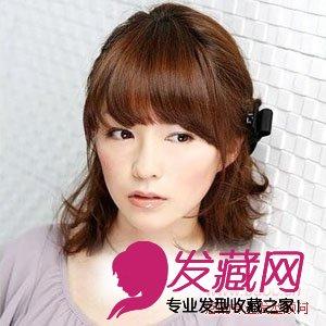 导读:齐刘海公主盘发 将及肩长度的头发,扎起公主头,看上去更加可爱.