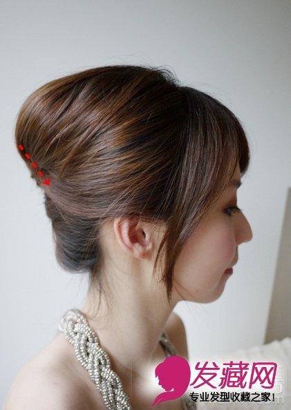 秋季简单盘发步骤及教程让你长发变 →清新的韩式盘发发型 手残党也能