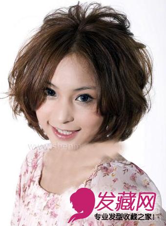 2015流行短发卷发发型图片(4)