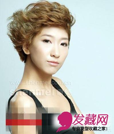 2015流行短发卷发发型图片(3)