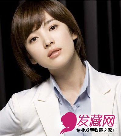 韩国明星中短发发型_【图】4款韩国女星短发发型图片(2)_短发发型_发藏网