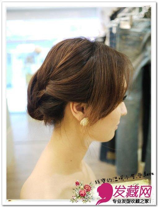 【图】短发妞甜美变身 唯美韩式盘发(12)_盘发发型_发图片