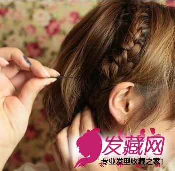可爱短发diy编发发型(5)