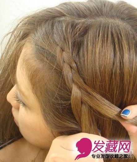 5步diy简单韩式编发发型 diy短发编发(2)