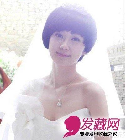 【图】最新短发新娘发型