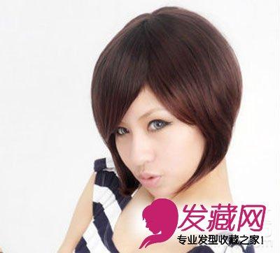 修颜减龄女生短发造型 韩式波波头乖巧可爱 →2015女生短发发型图片